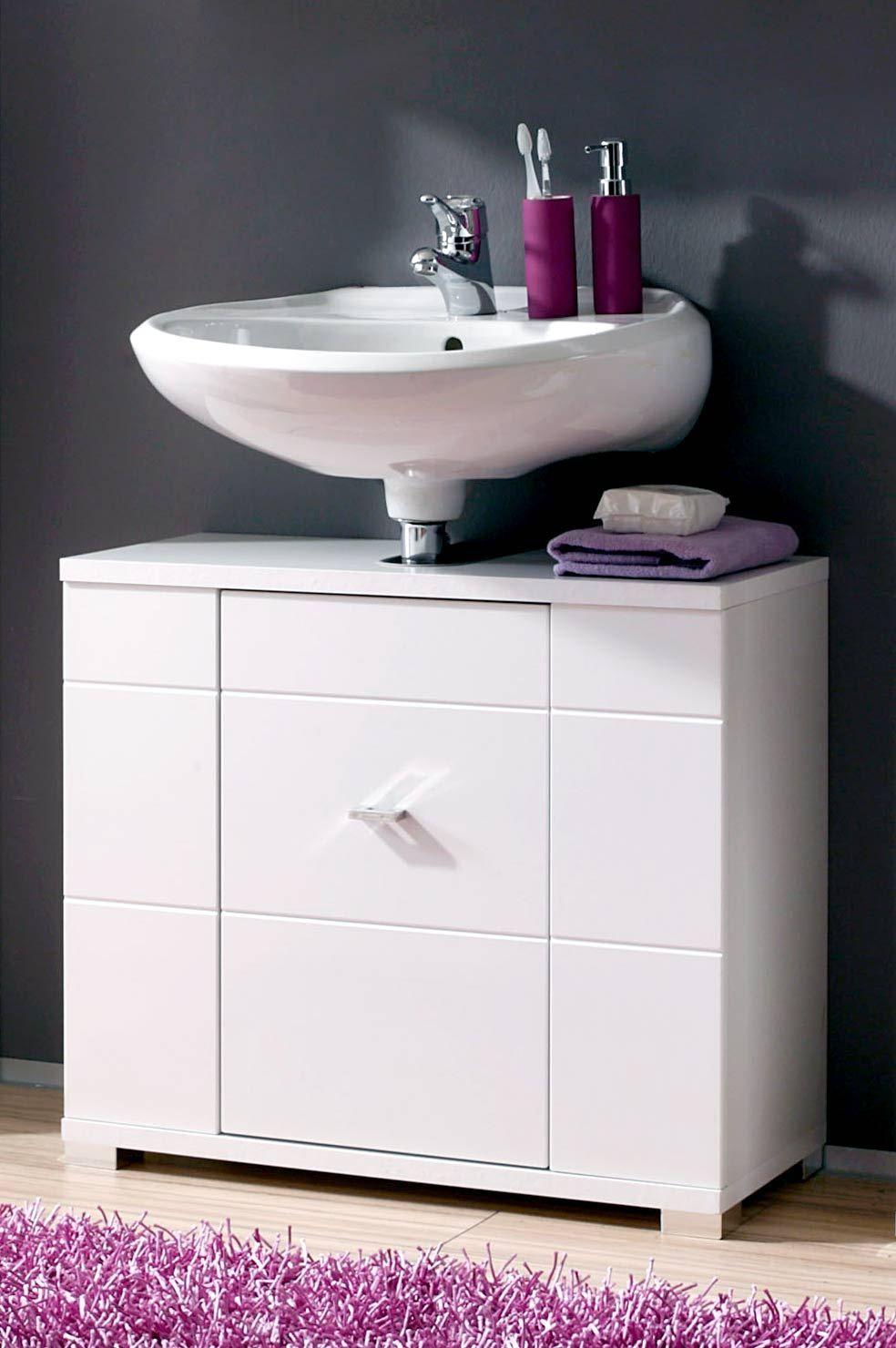Cool Badschrank Hochglanz Sammlung Von Waschbeckenunterschrank Morning In Weiß
